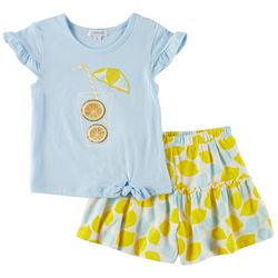 Flapdoodles Little Girls 2-pc. Lemonade Short Set