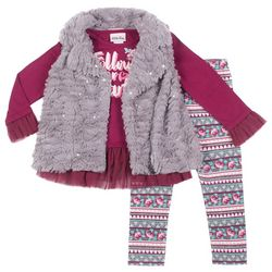 Little Lass Little Girls 3-pc. Follow Your Heart Vest Set