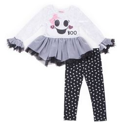 Little Lass Little Girls Ghost Tutu Leggings Set