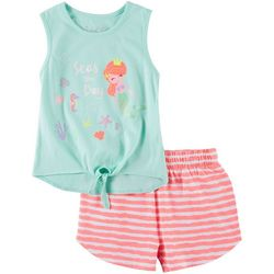 Freestyle Little Girls 2-pc. Seas The Day Shorts Set