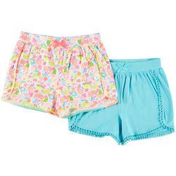 Freestyle Little Girls 2-pk. Flamingo Shorts