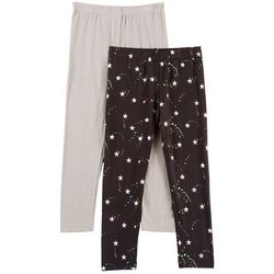 Freestyle Little Girls 2-pk. Star & Heathered Leggings