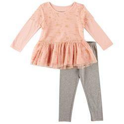 Kidtopia Little Girls Sparkle Star Leggings Set