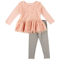 Kidtopia Little Girls Sparkle Star Leggings Set