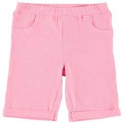 Kidtopia Little Girls Solid Bermuda Shorts