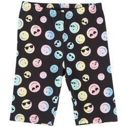 Kidtopia Little Girls Emoji Bermuda Shorts