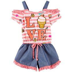cc617747100 RMLA Little Girls Love Cold Shoulder Romper