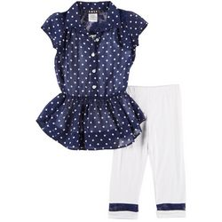 RMLA Little Girls 3-pc. Polka Dot Print Leggings Set