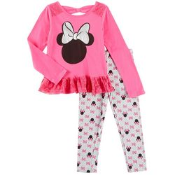 Disney Minnie Mouse Little Girls Dot Print Leggings Set