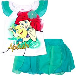 Disney Ariel Little Girls Make A Splash Skirt Set