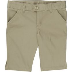 French Toast Big Girls Solid Bermuda Uniform Shorts