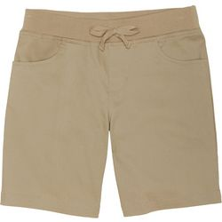 French Toast Big Girls Bow Pull-On Uniform Shorts