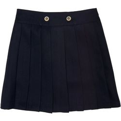 French Toast Little Girls Pleated Front Button Uniform Skort