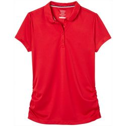 French Toast Little Girls Solid Sport Performance Polo