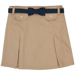 French Toast Little Girls Solid Dot Belt Uniform Scooter