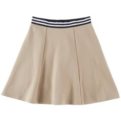 French Toast Big Girls Contrast Striped Waistband Skort