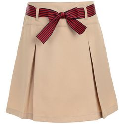Nautica Little Girls Pleated Belted Uniform Skort