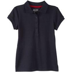 Nautica Big Girls Picot Uniform Polo Shirt