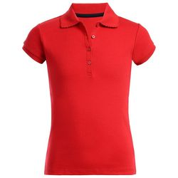 Nautica Big Girls Picot Uniform Polo Shirt