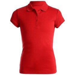 Nautica Little Girls Solid Picot Uniform Polo Shirt