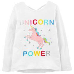 Carters Big Girls Unicorn Power Long Sleeve T-Shirt