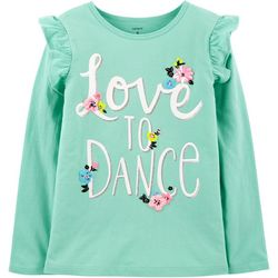 Carters Little Girls Love To Dance Long Sleeve T-Shirt