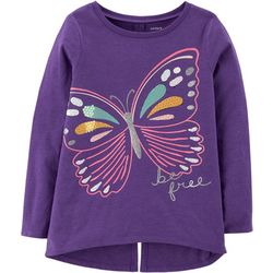 Carters Little Girls Be Free Butterfly Split Back T-Shirt