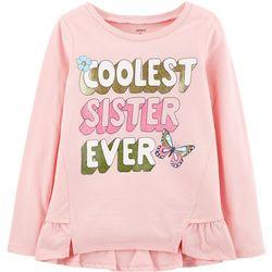 Carters Little Girls Coolest Sister Ever T-Shirt