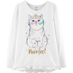 Carters Little Girls Purrfect Ruffle T-Shirt