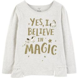 Carters Little Girls Yes, I Believe In Magic T-Shirt