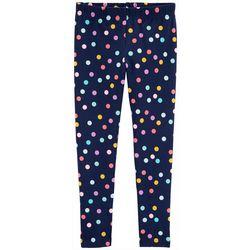 Carters Little Girls Polka Dot Print Pull-On Leggings