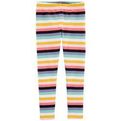 Carters Little Girls Rainbow Stripe Print Pull-On Leggings