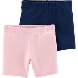 Carters Little Girls 2-pk. Solid Pull-On Shorts