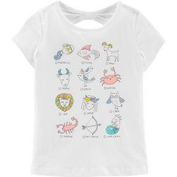 Carters Little Girls Zodiac Sign T-Shirt