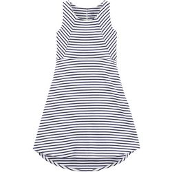 Carters Little Girls Stripe Sleeveless High-Low Dress