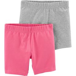 Carters Little Girls 2-pk. Solid & Heathered Pull-On Shorts