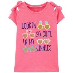 Carters Little Girls Lookin' So Cute In My Sunnies T-Shirt