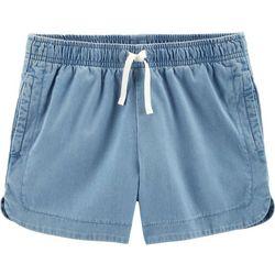 Carters Little Girls Denim Pull-On Shorts