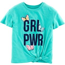 Carters Little Girls GRL PWR Tie Front T-Shirt