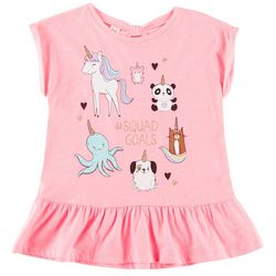 Carters Little Girls #Squad Goals Peplum Top