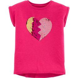 Carters Little Girls BFF Heart Flip Sequin T-Shirt