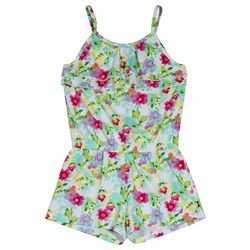 Nautica Little Girls Floral Print Romper