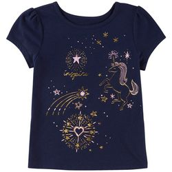 Kidtopia Little Girls Inspire Unicorn T-Shirt