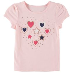 Kidtopia Little Girls Hearts & Stars T-Shirt