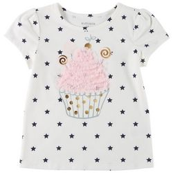 Kidtopia Little Girls Cupcake Star Short Sleeve Top