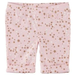 Kidtopia Little Girls Glitter Stars Pull-On Bermuda Shorts