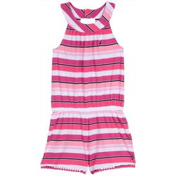 Nautica Little Girls Horizontal Stripe Romper
