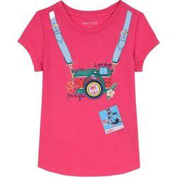 Nautica Little Girls Travel Camera T-Shirt