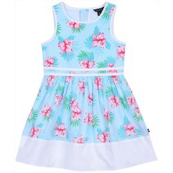 Nautica Little Girls Tropical Floral A-Line Dress