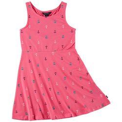 Nautica Little Girls Anchor Screen Print Dress